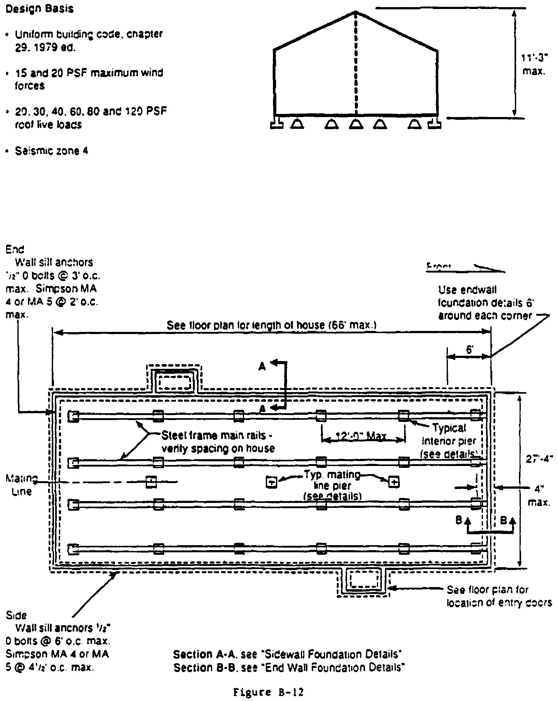 TYPICAL DESIGNS FOR LOAD-BEARING SUPPORTS FOR MANUFACTURED HOMES - Figure 10