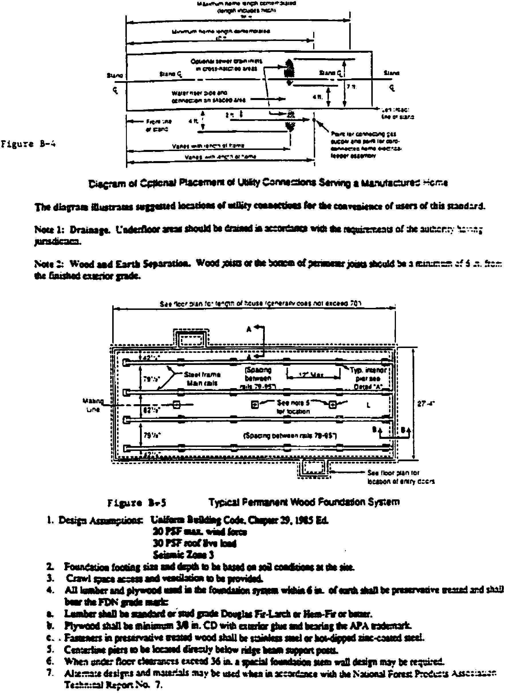 TYPICAL DESIGNS FOR LOAD-BEARING SUPPORTS FOR MANUFACTURED HOMES - Figure 3